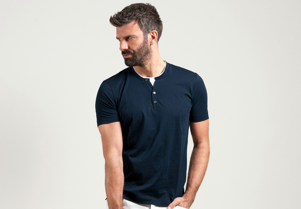 T-Shirt Doppio Collo Jersey Extra Light